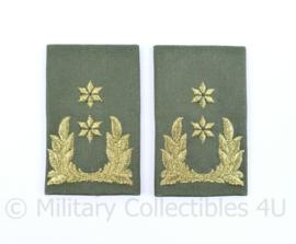 KL Nederlandse leger GVT epauletten schouderstukken set - Generaal-Majoor - origineel