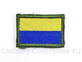 Oekraïense leger arm vlag embleem - met klittenband - 5 x 3,5 cm - origineel