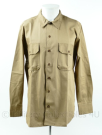 Officer chino blouse replica WO2 officiers overhemd khaki kleur - maat 42, 44 of 46