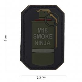 Embleem 3D PVC - met klittenband - M18 Smoke Ninja - 5 x 3,3 cm