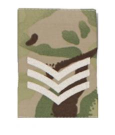 Britse leger MTP camo schouderstukken SET - rang Sergeant - origineel