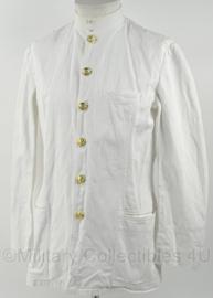 KM Marine toetoep uniform wit met opstaande kraag en gouden knopen - maat medium - origineel