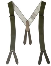 Bretel nieuw gemaakt 130 cm - knoop bevestiging - Groen