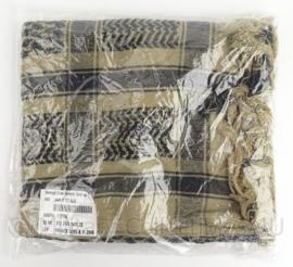 KL Koninklijke Landmacht Afghanistan Shemagh sjaal - zwart op desert - nieuw in de verpakking - origineel