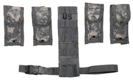 US Army Molle II set ACU camo Holster extender en 4 magazijntassen -  origineel