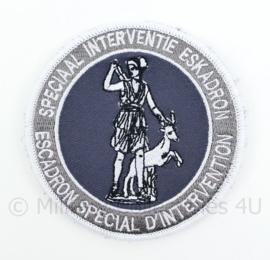 Belgische Politie Speciaal Interventie Eskadron embleem - met klittenband - diameter 9 cm