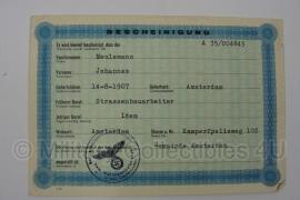 Stalag tewerkstelling - Nederlandse krijgsgevangene - Johannes Meulemans Amsterdam