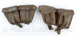Oostenrijks WO2 Steyr paar patroon tassen  - gedateerd 1930 & 1939 - 18 x 10 x 5 cm - origineel