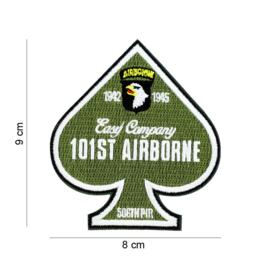 Embleem stof 101st Airborne Division Easy Companie 506TH PIR 1942-1945 -  9 x 8 cm.