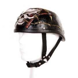 Biker helm - Skull & barbed wire - Medium