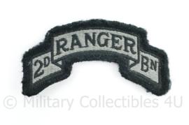 US 2nd Ranger Bn patch met klittenband voor op het ACU uniform - 5 x 9,5 cm - origineel