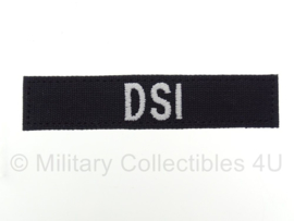 """Naamlint politie 'DSI"""" Dienst Speciale Interventies met klittenband Zwart - nieuw gemaakt"""