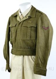 MVO DKG Korps Mariniers Battledress van 1947 - vroeg model in de Britse kleur - maat 48L - origineel