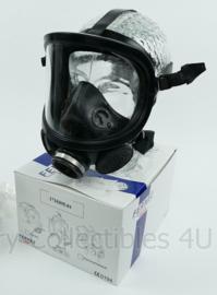 10 STUKS zwarte moderne Fernez by Willson brandweer en Speciale eenheden DSI gasmasker met breed zichtveld zeldzaam model! - 10 stuks NIEUW in doos - origineel