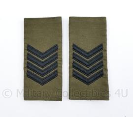 Korps Mariniers GVT epauletten paar - rang Sergeant Majoor der Mariniers  - origineel