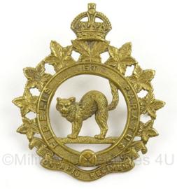 WO2 Canadees baret of pet insigne Ontario Regiment - afmeting 5 x 6 cm - origineel