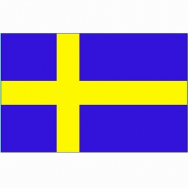 Vlag Zweden - Polyester -  1 x 1,5 meter