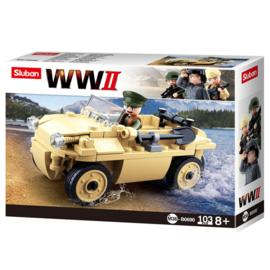Sluban (geen lego) WO2 Duitse Schwimmwagen - type M38-B00690