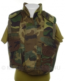 US Army woodland scherfvest - Body Armor Fragmentation protective vest - maat medium - origineel