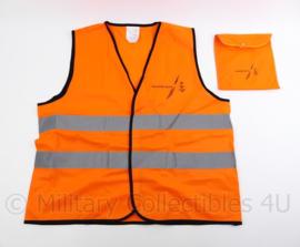 Koninklijke Marine nieuw model reflectie vest oranje met opbergtas - 22 x 18 x 3 cm - origineel
