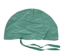 Operatie muts hoofddeksel chirurg - groen - origineel