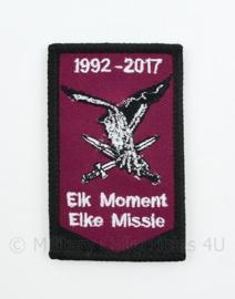 LMB Luchtmobiele Brigade 1992-2017 embleem - Elk Moment Elke Missie - met klittenband - 8 x 5 cm