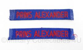 MVO straatnaam PAAR Prins Alexander - 10,5 x 2  origineel