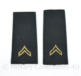US Army shoulder boards yellow on black - 11,5 x 5,5 cm - origineel