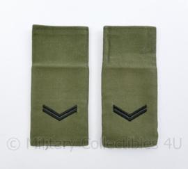 Korps Mariniers GVT epauletten schouderstukken set - Korporaal - origineel