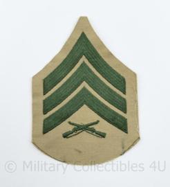 USMC US Marine Corps ENKEL rang embleem - Sergeant - 13 x 9 cm - origineel