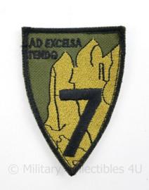 Zeldzaam Italiaanse 7Th Alpini Regiment embleem - met klittenband - 9 x 6 cm -  origineel