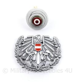 Oostenrijke leger pet insigne PAAR - 5 x 4 cm - origineel