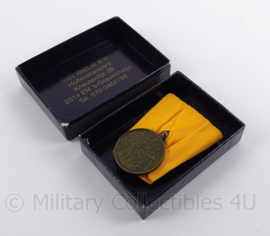 Nederlandse leger Trouwe Dienst medaille Brons - met de W van Wilhelmina - in origineel doosje Wielik BV - origineel