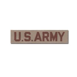 "US ""US Army"" DESERT branch tape naamlint  - origineel"