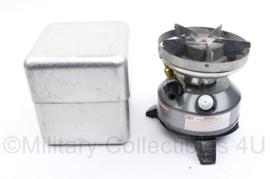 Defensie Coleman multi Fuel Stove met aluminium peak 1 beschermende case - werkend getest - nette staat - 15 x 12 x 12 cm - origineel