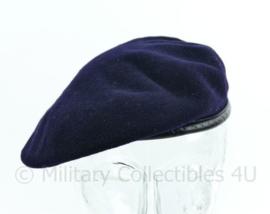Franse leger baret - donkerblauw - 52 tm. 61 cm. - origineel