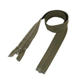 Groene militaire rits leger rits - deelbaar - 80 cm (voor bijv. parka) - groen