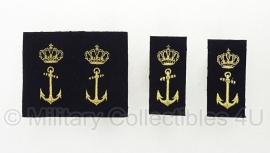 KM Nederlandse Marine paar schouder insignes -  origineel