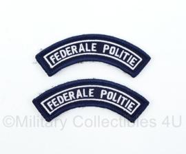 Belgische Politie Federale Politie straatnamen set - met klittenband - 9 cm breed