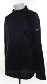 Politie shirt met rits - Coolmax met opdruk Police - lange mouw - XS of S - origineel