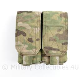 Defensie en Korps Mariniers Warrior Assault Systems Double Mag Pouch M4 C7 multicam- 15 x 15 x 5 cm - origineel