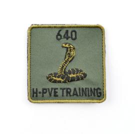 Klu luchtmacht  640 SQN H PVE TRAINING 640 Bewakingssquadron 640 squadron  borstembleem - met klittenband - 5 x 5 cm - origineel