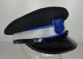 Britse politie heren platte pet - Community support officer -  zwart met blauw/zilveren band - maat 58 - origineel