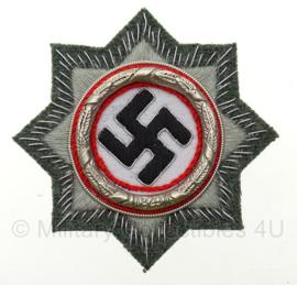 Duits Kruis in stof - zilver