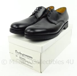 KL Nederlandse leger DT schoenen van Derby Gold class - zwart leer, rubberen zool - nieuw in doos - maat 315S/49S - origineel