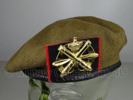 KL Nederlandse leger Luchtdoelartillerie baret - oud model - maat 56, 57 of 59 - origineel