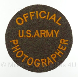 WO2 US Army Official Photographer embleem rond - 8,4 x 8,4 cm