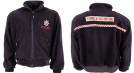 Britse Fire & Resque Service Fleece jack met bedrukking voor en achter! - origineel