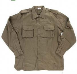 Italiaanse leger wollen Overhemd Bruin - maat 3  - origineel