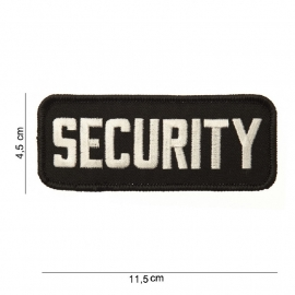 Uniform borst embleem - SECURITY  - 11,5 x 4,5 cm.